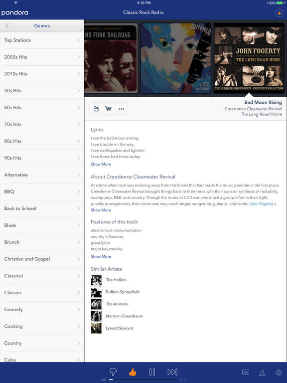 Download Pandora for iPad