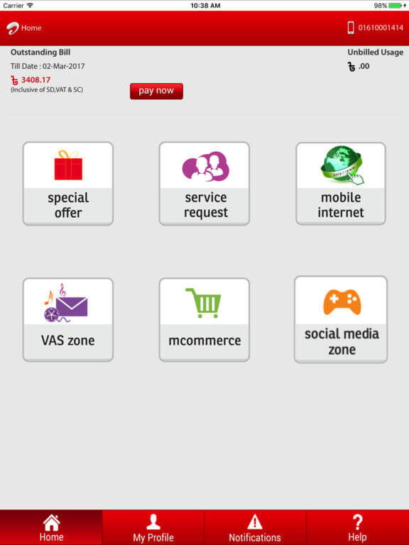 Download My Airtel App for iPad