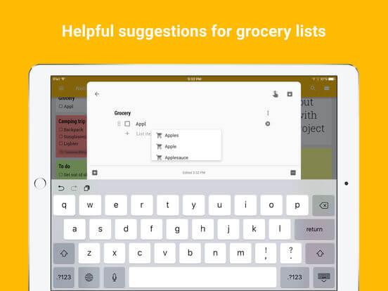 Download Google keep for iPad