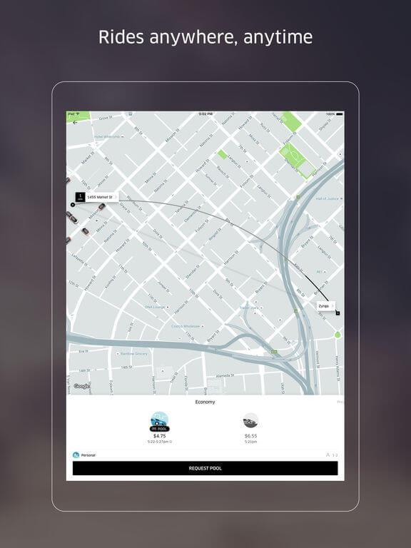 Download Uber App for iPad