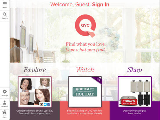 Download QVC App for iPad