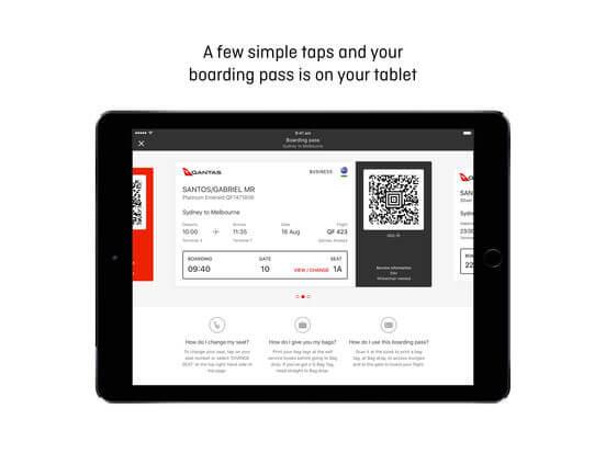 Download Qantas App for iPad