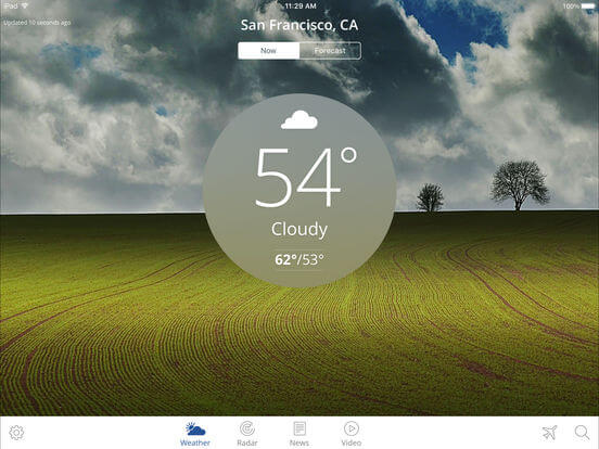 Download Weather App for iPad