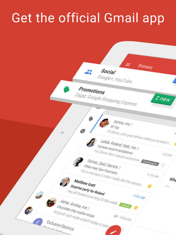 Download Gmail for iPad