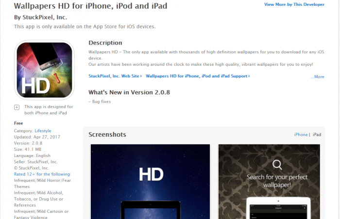 Download Wallpapers HD for iPad