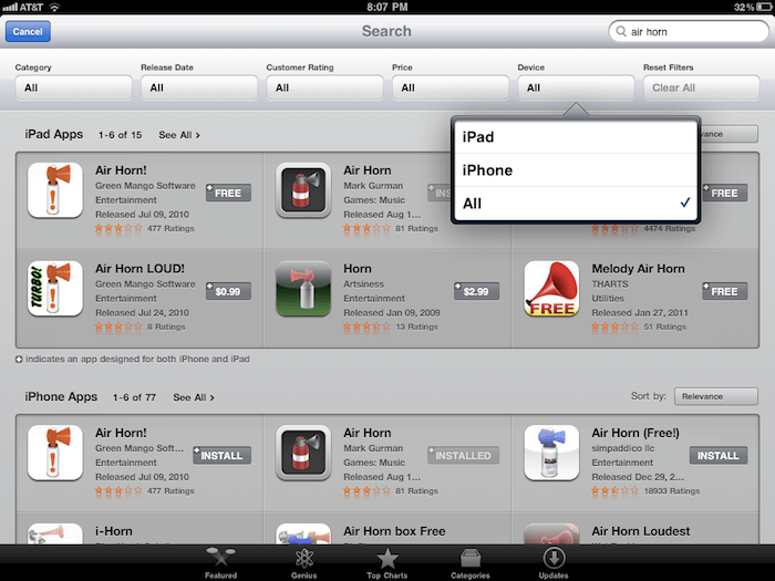 Download App Store for iPad