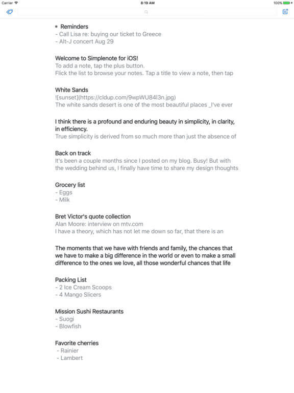 Download Notes for iPad