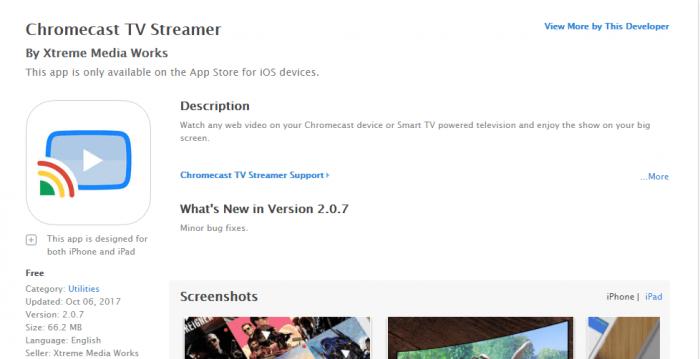 DownloadChromecast for iPad