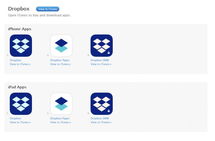 Download Dropbox for iPad