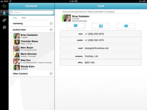 Download Lync for iPad