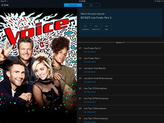 Download TV App for iPad