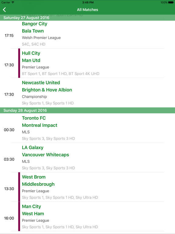 Download Live Football Streaming for iPad