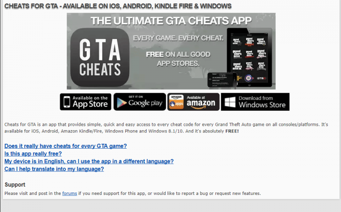 Download GTA San Andreas Cheats for iPad