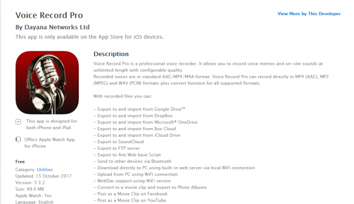 Download Audio Recorder for iPad