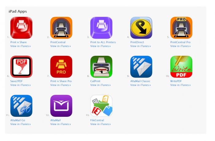 DownloadPrinter App for iPad