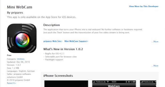 Download Webcam for iPad