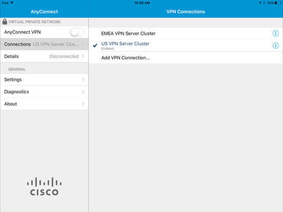Download Cisco AnyConnect for iPad