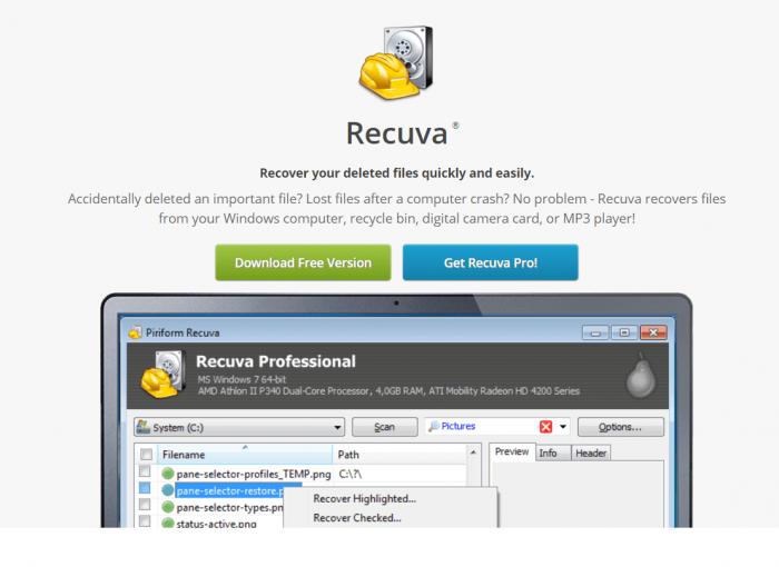 Download Recuva for Mac