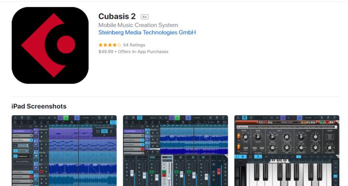 Download Cubasis for iPad