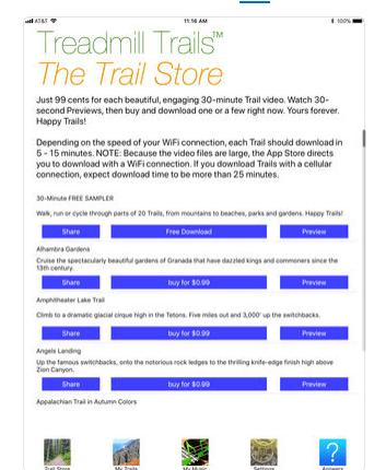 Download Treadmill App for iPad